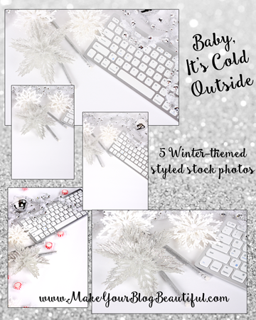 Styled stock photos - winter themed set