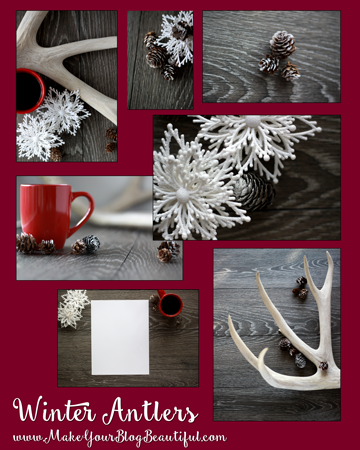 Winter themed styled stock photos for your blog, website, and social media from www.MakeYourBlogBeautiful.com